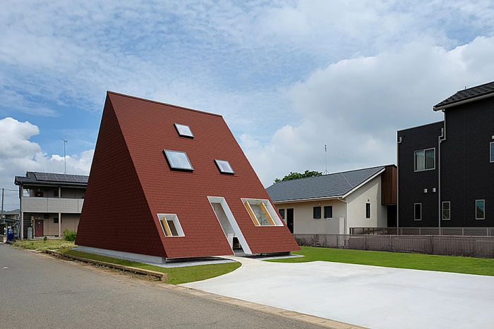 >ALLデザインの施工事例写真_個性的な家1
